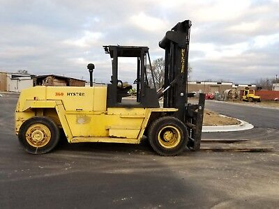 Hyster 36,000Lb. H360XL, 2-Stage Mast, Side Shift, Diesel, Pneumatic Tires
