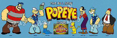 NEW!! EXTRA LARGE! ALL NEW POPEYE HOUR Panoramic Photo Print HANNA BARBERA