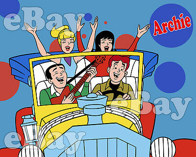 EXTRA LARGE! THE ARCHIES Cartoon Poster Print FILMATION Studios ARCHIE COMICS