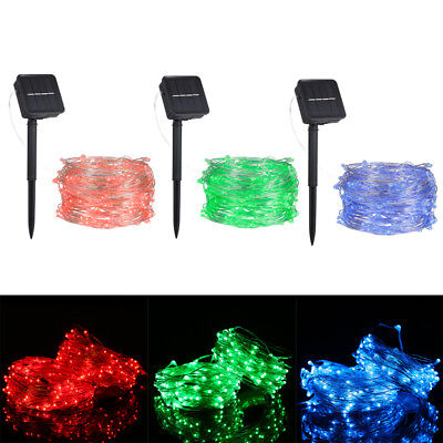 Solar Power LED Fairy String Lights Garden Outdoor Party Wedding Decoration B0A0