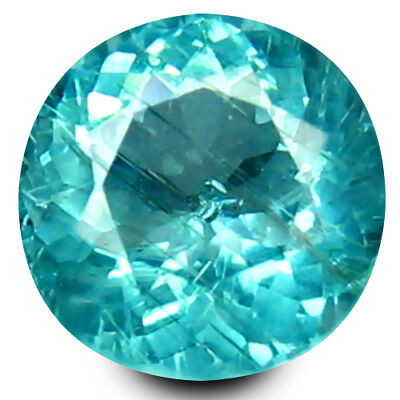 0.33 ct Round Cut (4 mm) Un-Heated Paraiba Blue Color Brazilian Apatite Gemstone
