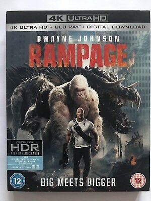 Rampage 4K HDR  Ultra HD - Blu Ray – Digital Download New & Sealed