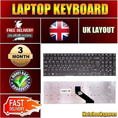 c113016e61e New Acer ASPIRE E5-551G SERIES Replacement Black Color Laptop Keyboard UK  Layout