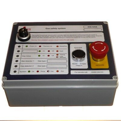 IHS-GSS Gas Safety System Emergency Stop Isolate Key Reset Weatherproof Box New