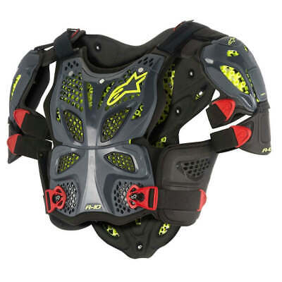 Alpinestars A-10 Anthracite Black Red Full Chest Protector