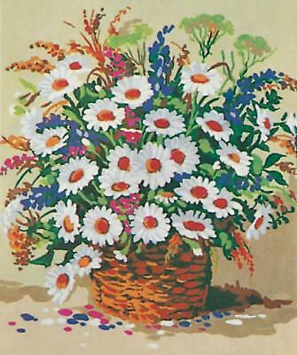 Grafitec Printed Tapestry/Needlepoint Canvas – Basket of Daisies