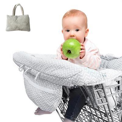 Foldable Baby Shopping Cart Seat Cover Belt Safety With Cushion Chair Dining