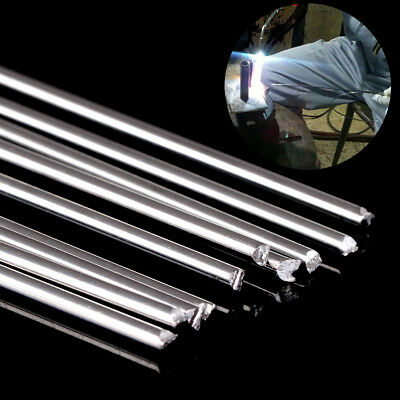 10pcs Silver Aluminum Welding Rod Low Resistance Corrosion with 1.6mmx45cm Rods