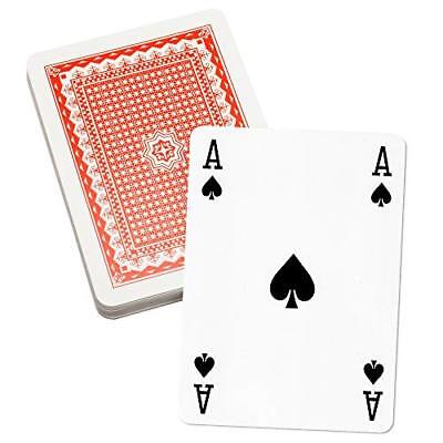 8 Inch x 11 Inch Super Jumbo Playing Cards. Giant Game Playing Card Deck