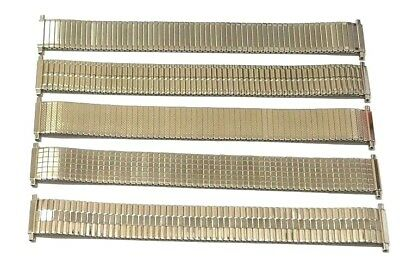 18mm - 20mm SILVER EXPANDING WATCH STRAP EXTRA LONG Push Back Bars Very Stretchy