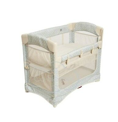 Arm's Reach 5611-TG Concepts Mini Ezee 2 in 1 Bedside Bassinet Turquoise Geo