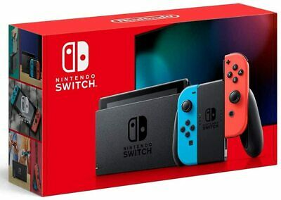 New Nintendo Switch 32GB Console+Red Blue Joy-Con+Mario Odyssey Game+Travel case