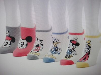 New Women's DISNEY MICKEY MOUSE, GOOFY  No-show 6 pair Socks - Shoes Size 4-10