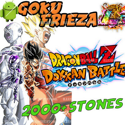 🌟Android - Dokkan Battle - Goku&Frieza LR with 2000+ Dragon Stones - Global 🌟