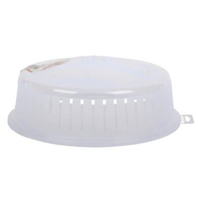 Dunya Microwave Lid. Clear Colour Microwave Plate Cover Ventilated Lid. 26 cm.