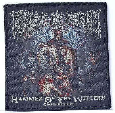 Cradle of filth Hammer of the witches Embroidered Licensed Official Metal Sew on