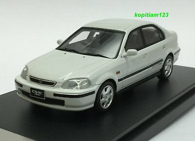 1:43 HI STORY HS143WH 1996 HONDA CIVIC FERIO Si II model car WHITE model car