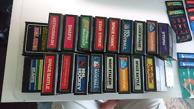 *Lot of 19* VINTAGE 1980's Intellivision cartridges WITH OVERLAYS