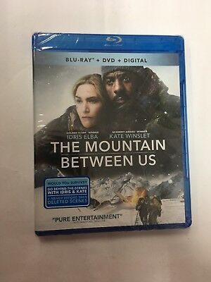 The Mountain Between Us (Blu-ray/DVD, 2017, 2-Disc Set) NEW