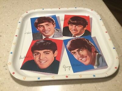 VINTAGE 1964 THE BEATLES METAL TRAY VERY NICE  Made in Great Britain