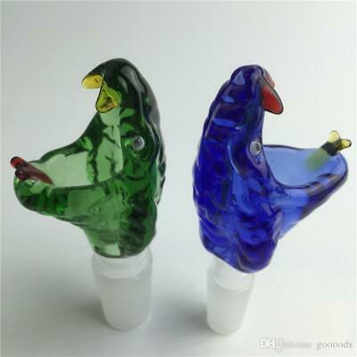 14mm / 18mm Green Blue Octopus Snake Crocodile Glass Slide Thick  Bowl USA