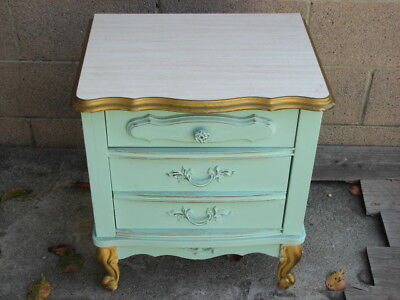 Antique Vintage Furniture Bonnet by Sears Dresser - Nightstand French Provincial