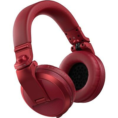 Pioneer DJ HDJ-X5BT Over-Ear Bluetooth DJ Headphones - Red