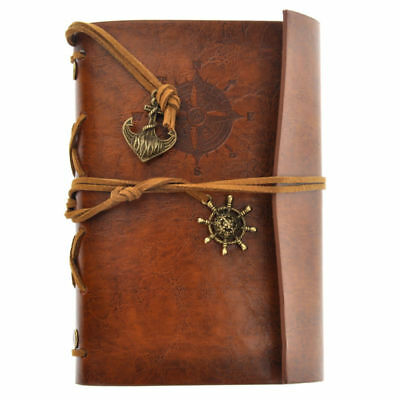 Retro Vintage PU Leather Cover Notebook Travel Journal Diary Diary Jotter Brown