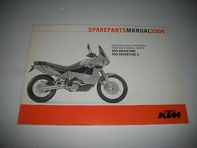 2004 Ktm 950 Adventure 950 Adventure S  Motorcycle Parts Manual Catalog -Chassis