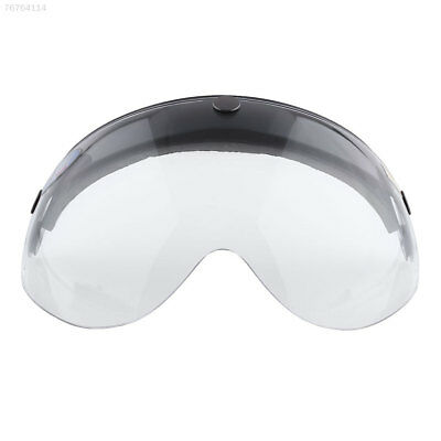 8208 Pilot-Style Motorcycle Biker Helmet 3-Snap Face Visor Wind Shield Clear