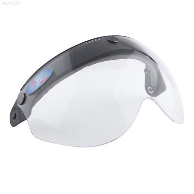 7D22 Pilot-Style Motorcycle Helmet 3-Snap Face Visor Wind Shield Down Clear