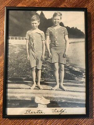 Framed Picture Of Prince Of Wales / King Edward VIII As A Child