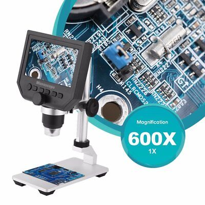 "600X4.3"" LCD 3.6MP Electronic Digital Video Microscope for Mobile Phone US Stock"