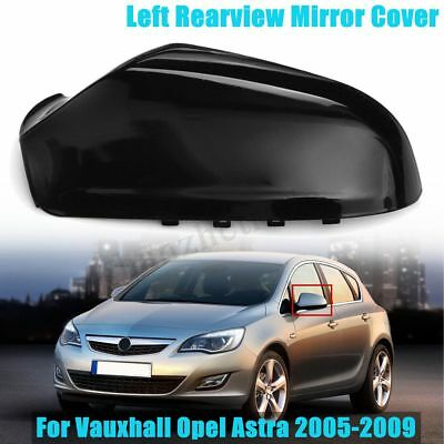 Left Wing Mirror Cover Cap For Vauxhall Opel Astra MK5 2005-2009 Gloss Black