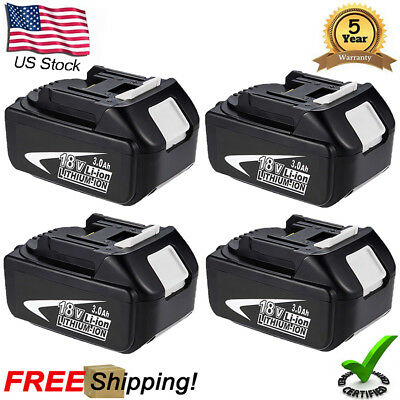 4X 18V Bl1830 Battery For Makita Bl1850 Lxt400 Lithium-Ion Replace Bl1860 Bl1815