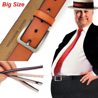 """Big Tall Waist Size 28""""-65"""" Casual Mens Belts for Jeans 100% Real Leather Belts"""