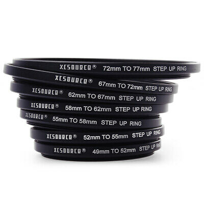 7x Step Up Rings Adapter Set 49mm 52mm 55mm 58mm 62mm 67mm 72mm 77mm DC38