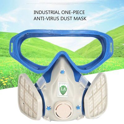 Full Face Respirator Gas Mask With Goggles Paint Chemical Protective Ma W~
