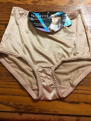 Vintage Vassarette Undershapers Brief Panties Granny Satin Shiny Size S Waisted