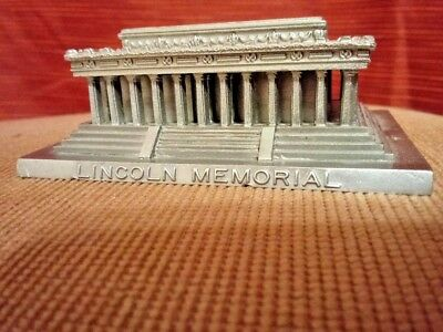 Metal Pewter Lincoln Memorial accurate detailed souvenir building architectural