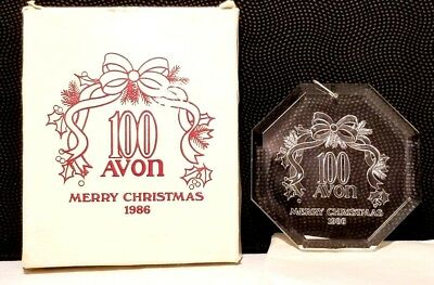 Avon 100 Christmas Ornament 1986 Issue Crystal clear Vintage