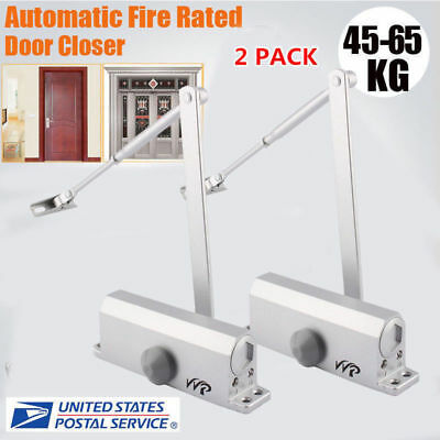 2X 45-65KG Aluminum Commercial Door Closer Two Independent Valves Control Sweep