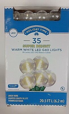 LED String Lights Super Bright warm white  G40 Christmas Fairy Lights 35 Count