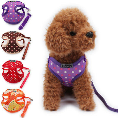 Hot Small Dog Pet Walk Collar Mesh Control Harness Soft  Safety Strap Vest Leash