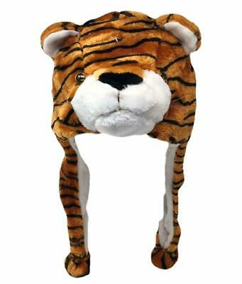 Warm Tiger Animal Beanie Winter Plush Snow Hat Adults Kids Costume Dress Up
