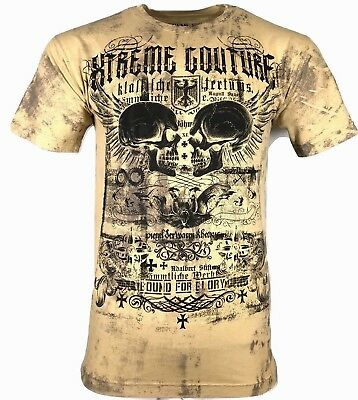XTREME COUTURE by AFFLICTION Men T-Shirt EVER MOTOR Tatto Biker MMA UFC S-4X $40