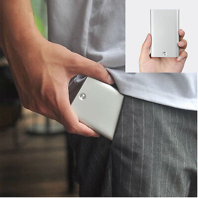 1pcs Solid Design For Xiaomi Automatic Up Men Business Card Holder AlloyStorage