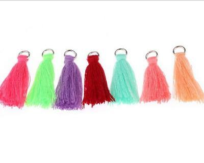 100X Cotton thread Tassels Pendant Earrings Jewelry makeing DIY Accessories 30mm