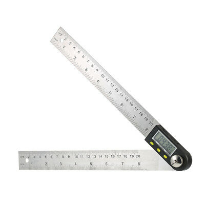 "360° LCD Digital Protractor Angle Finder 0-200mm/8"" Ruler Reverse Display H8S1"