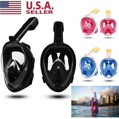 2018 Anti-Fog Swimming Full Face Masks Surface Diving Snorkel SCUBA for GoPro US